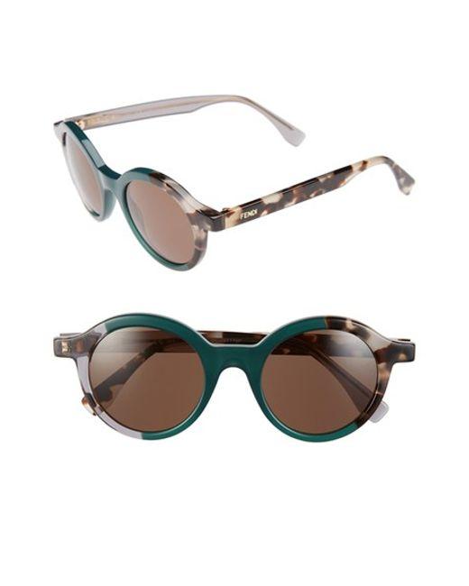Fendi | Green 48mm Sunglasses | Lyst