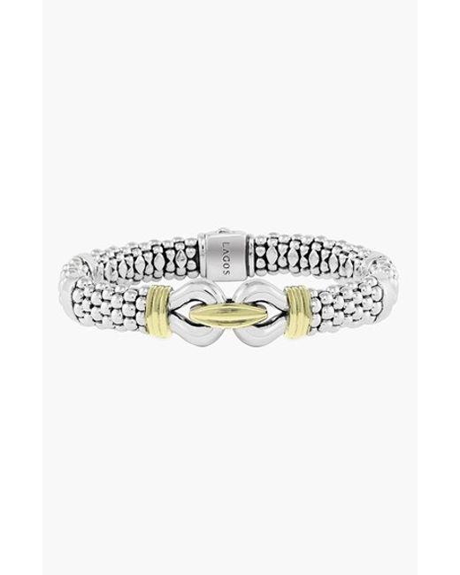 Lagos   Metallic 'derby' Two-tone Caviar Rope Bracelet (online Only)   Lyst