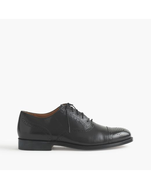 J.Crew | Black Ludlow Semi-brogue Oxfords for Men | Lyst