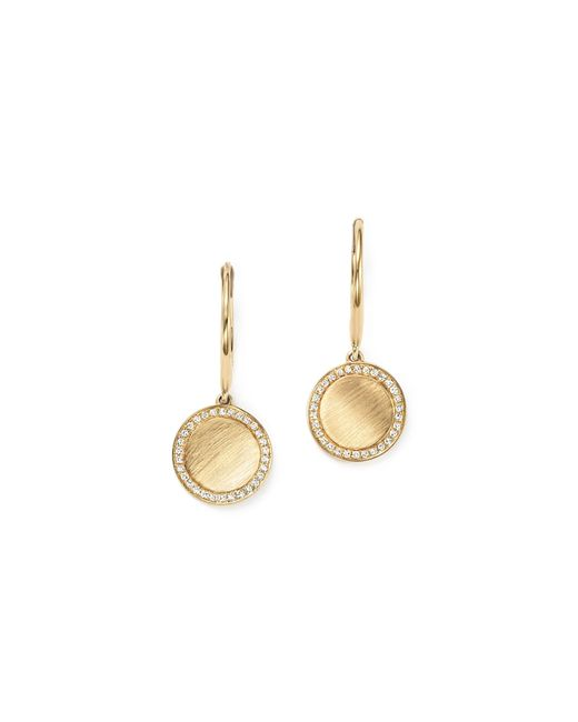KC Designs | Metallic Diamond Disc Drop Earrings In 14k Yellow Gold | Lyst