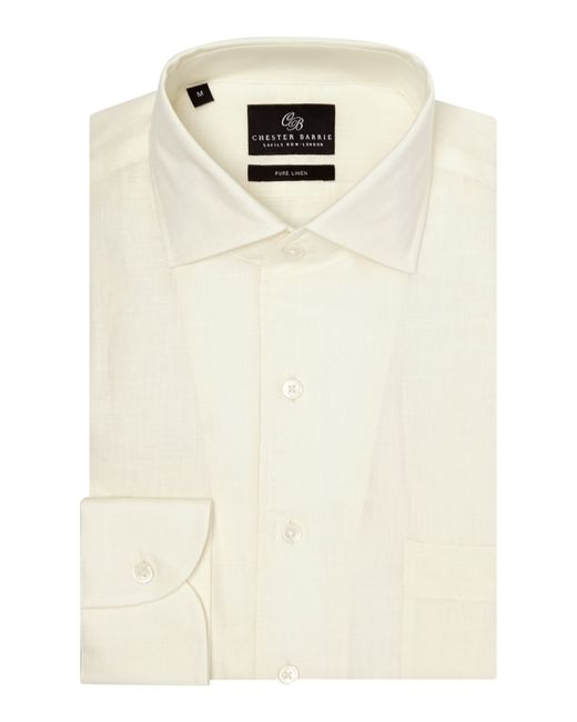 Chester Barrie | Natural Plain Tailored Fit Long Sleeve Shirt for Men | Lyst
