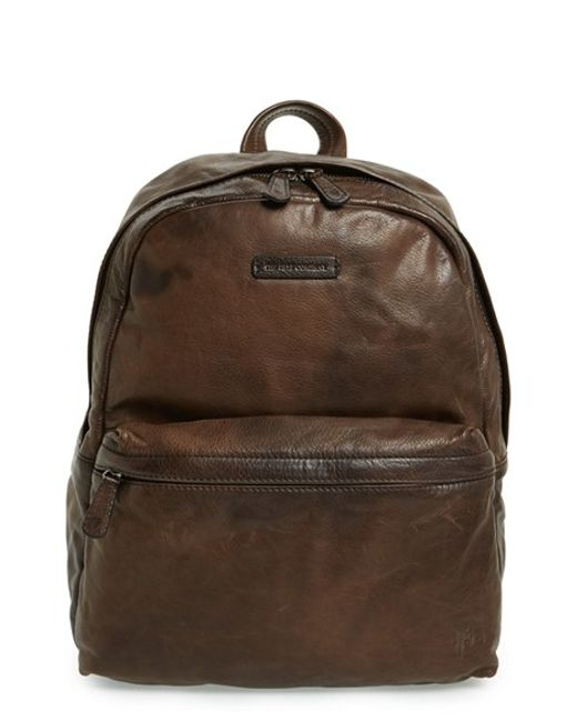 Frye | Gray 'tyler' Leather Backpack for Men | Lyst