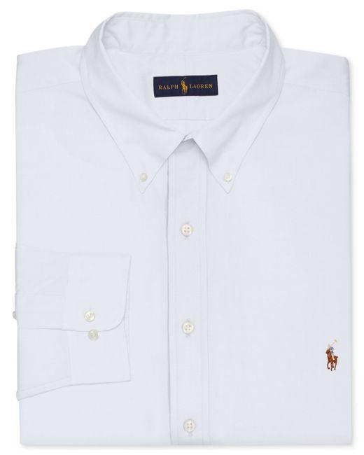 polo ralph lauren men 39 s big and tall white dress shirt in