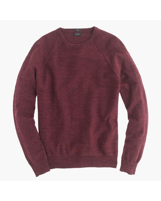 J.Crew   Red Slim Rugged Cotton Sweater for Men   Lyst