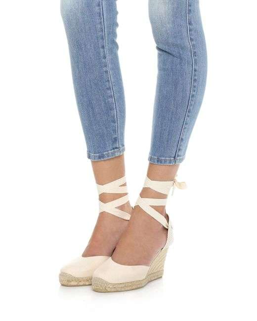 Soludos | Pink Tall Wedge Espadrilles | Lyst