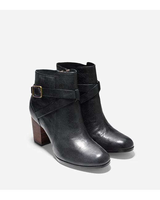 Cole Haan   Black Fulton Leather Suede Wedge Boots   Lyst