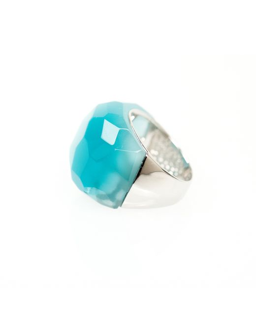 Ona Chan Jewelry | Metallic Round Cocktail Ring Blue | Lyst