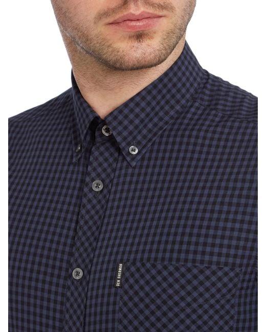 Ben Sherman | Black Classic Gingham Check Short Sleeve Shirt for Men | Lyst