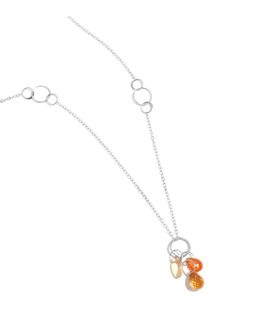 Melissa Joy Manning | Red Citrine And Garnet Drop Necklace | Lyst
