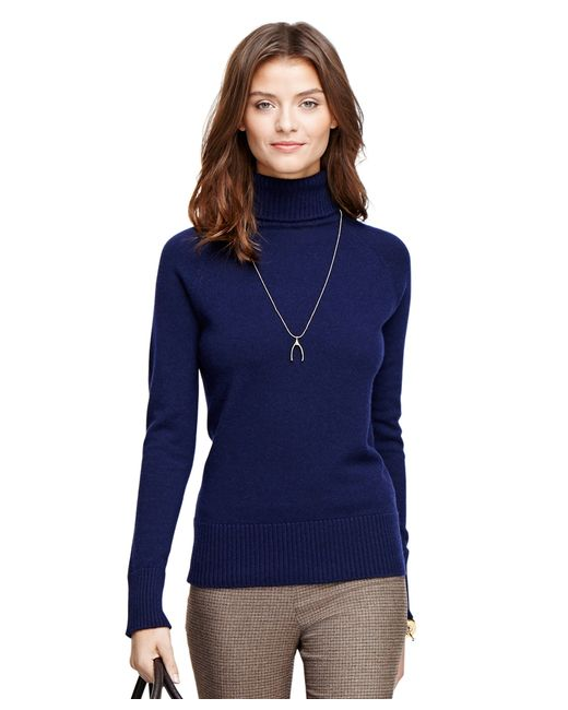 Brooks Brothers | Blue Cashmere Turtleneck | Lyst