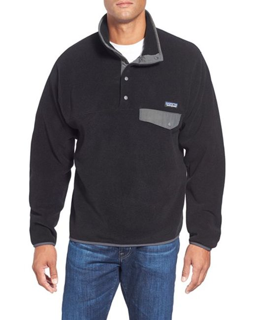 Patagonia | Black 'synchilla Snap-t' Fleece Pullover for Men | Lyst