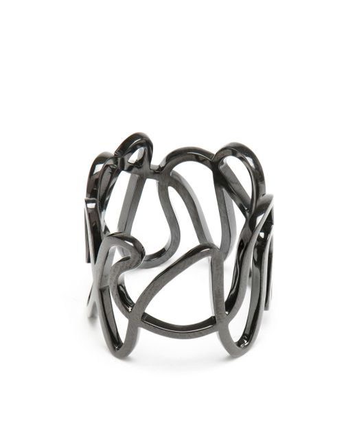 Repossi | 18k Black Gold White Noise Ring | Lyst