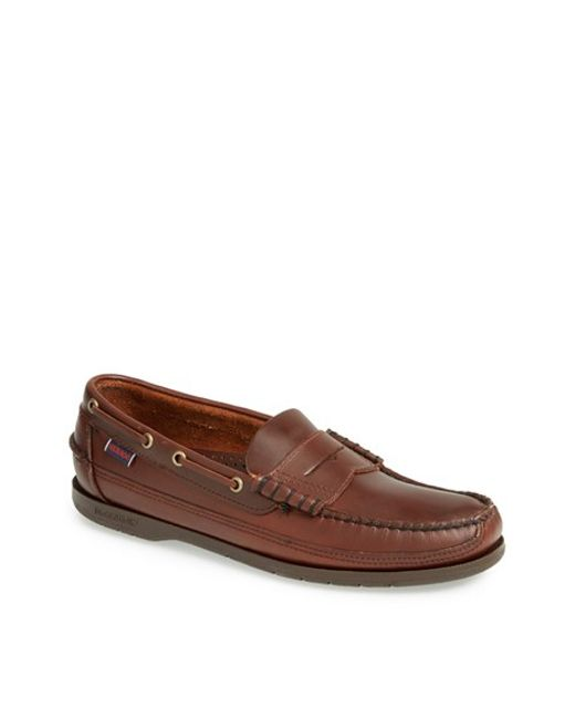 Sebago | Brown 'sloop' Penny Loafer for Men | Lyst