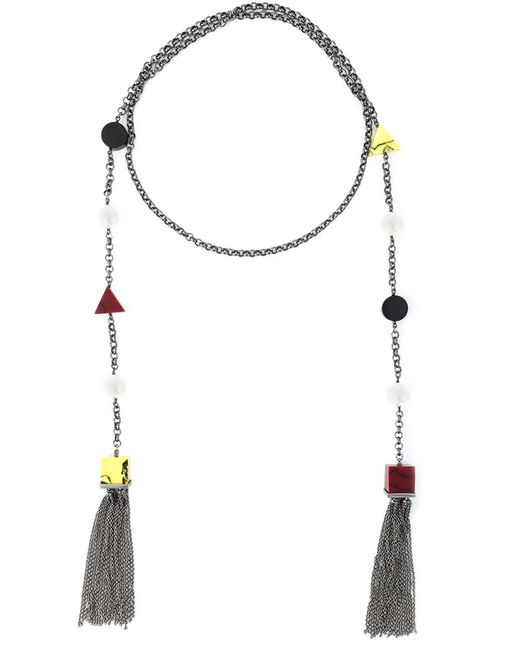 Eshvi Back To School Tassel Necklace In Red Save 30