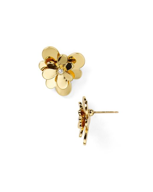 kate spade new york | Metallic Pansy Blossoms Stud Earrings | Lyst