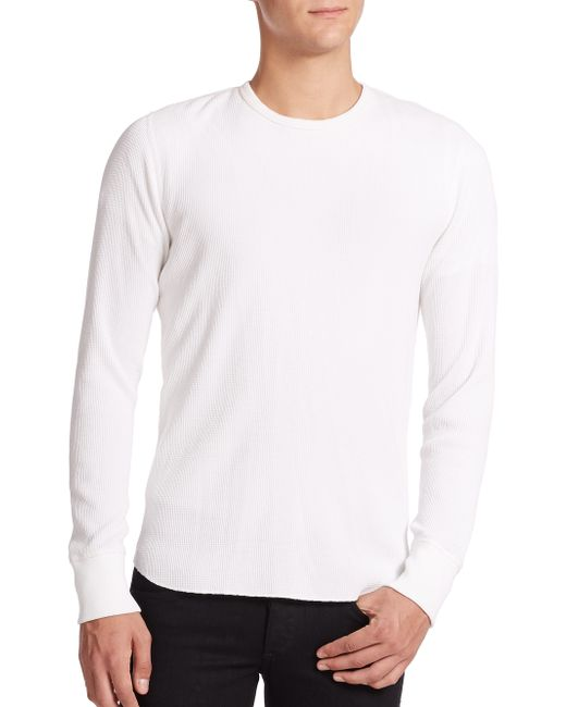 Rag & Bone | White Standard Issue Waffle-knit Tee for Men | Lyst