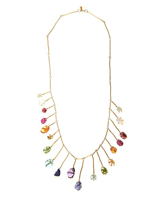 Pippa Small   Multi-stone & Yellow-gold Necklace   Lyst