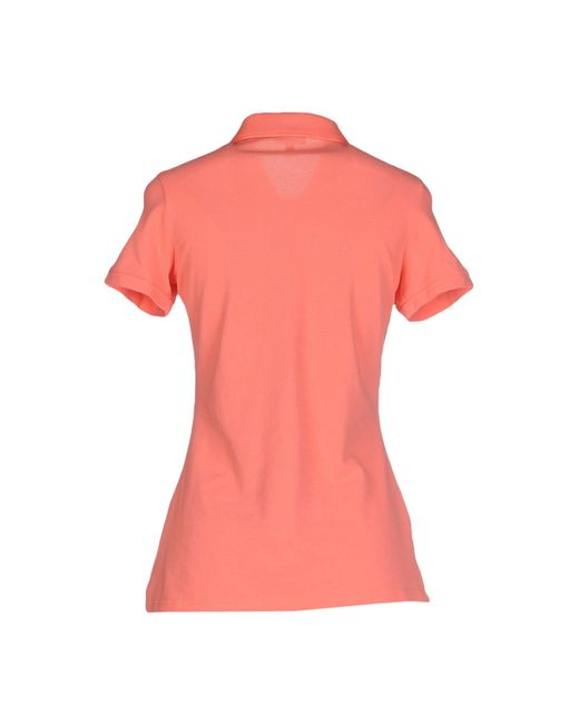 Express Polo Shirt In Pink Salmon Pink Lyst