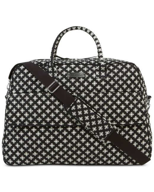Vera Bradley Grand Traveler Tote In Prints In Black Mini