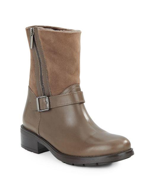 Aquatalia | Natural Shearling-trim Ankle Boots | Lyst