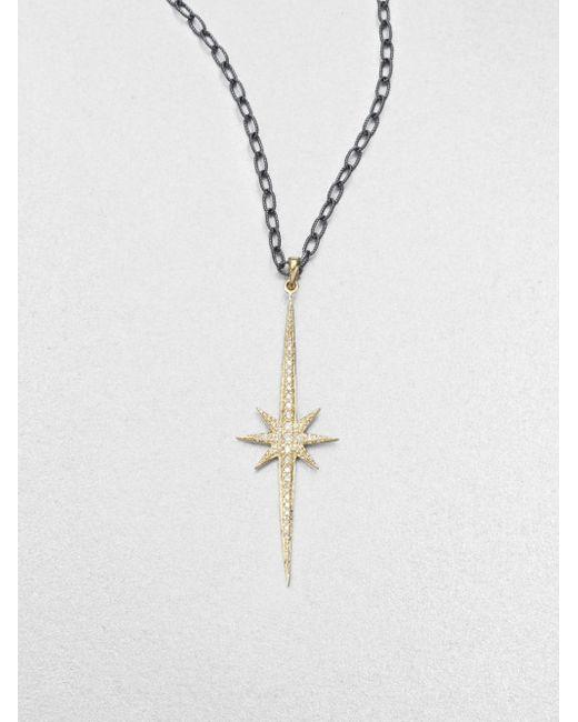 Mizuki | Metallic Sterling Silver & 14k Gold Starburst Pendant Necklace | Lyst