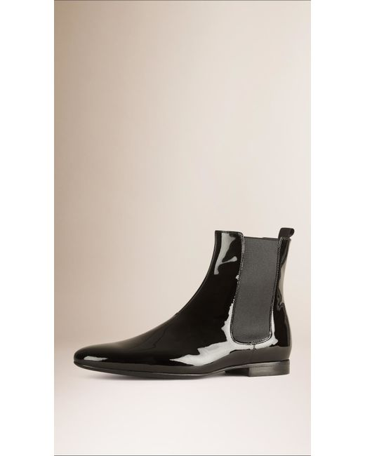 Awesome WOMENS BLACK PATENT KNEE HIGH FLAT CHELSEA STYLE SLIM FIT BOOTS SIZE 3