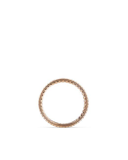 David Yurman | Pink Single Row Wedding Band In 18k Rose Gold | Lyst