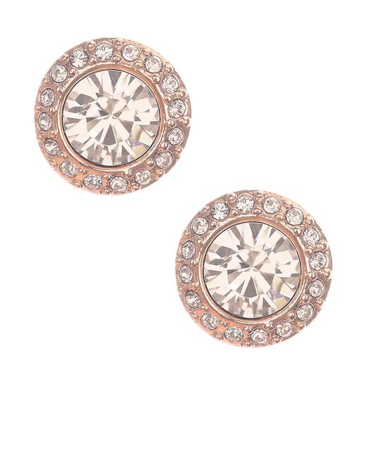 Givenchy | Pink Rose Goldtone And Swarovski Crystal Stud Earrings | Lyst