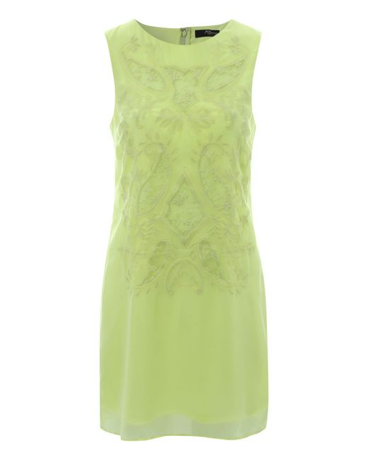 Jane Norman | Green Embroidered Shift Dress | Lyst