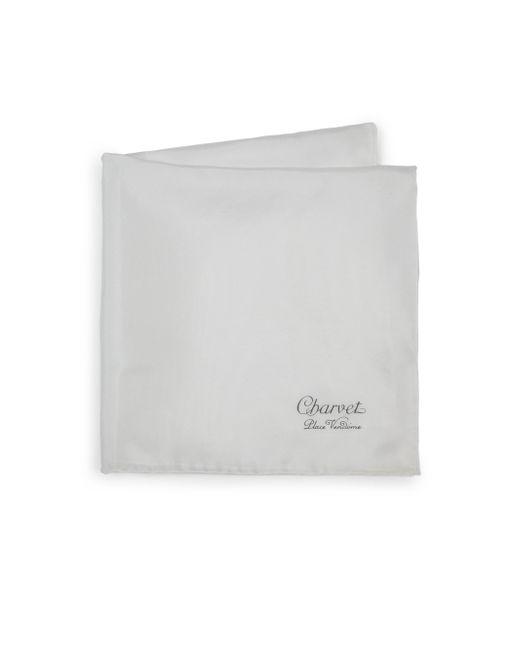 Charvet   White Solid Silk Pocket Square for Men   Lyst