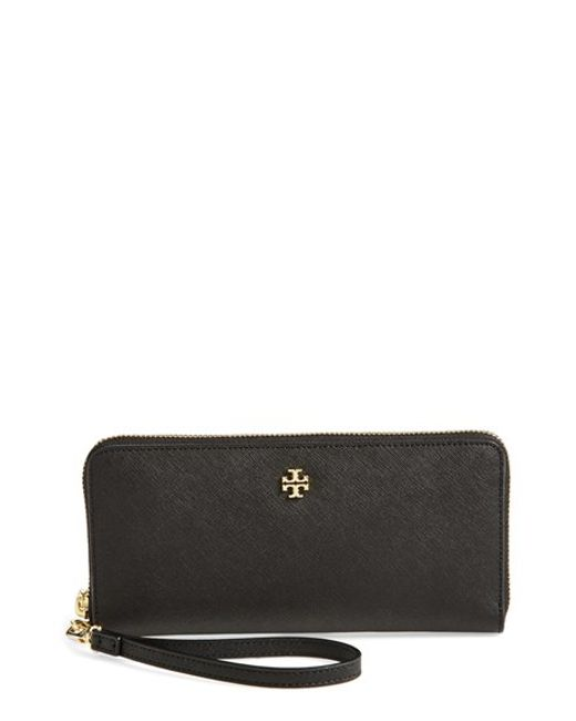 Tory Burch | Black 'york' Leather Continental Wallet | Lyst