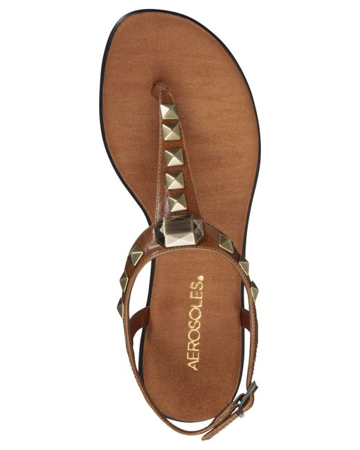 Aerosoles Chlose Together Flat Thong Sandals In Brown