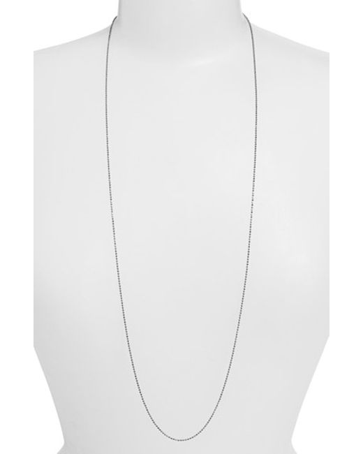 Argento Vivo | Metallic Long Ball Chain Necklace | Lyst
