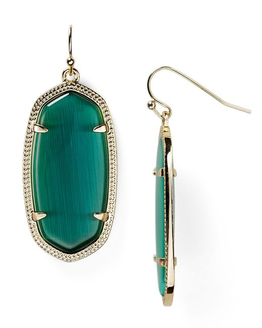 Kendra Scott | Green Danielle Earrings | Lyst