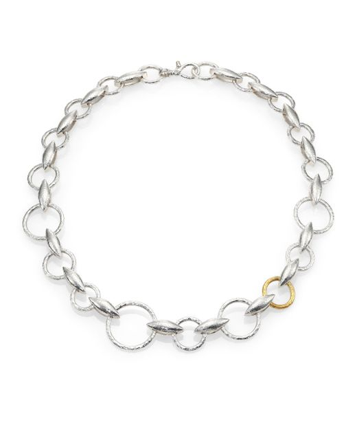 Gurhan | Metallic Wheatla 24k Yellow Gold & Sterling Silver Marquis Chain Necklace | Lyst