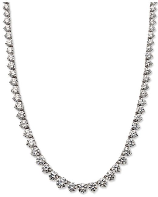 Arabella | Metallic Swarovski Zirconia Necklace (53 Ct. T.w.) | Lyst