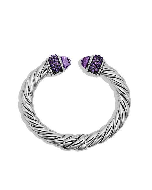 David Yurman | Metallic Osetra Bracelet With Amethyst | Lyst