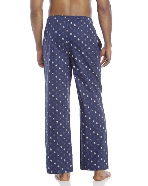 Original Penguin   Blue Logo Print Lounge Pants for Men   Lyst