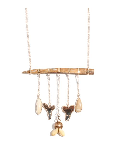 Melissa Joy Manning | Multicolor Petrified Wood And Fossil Necklace | Lyst