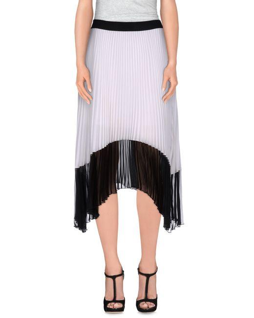 Pinko | White 3/4 Length Skirt | Lyst