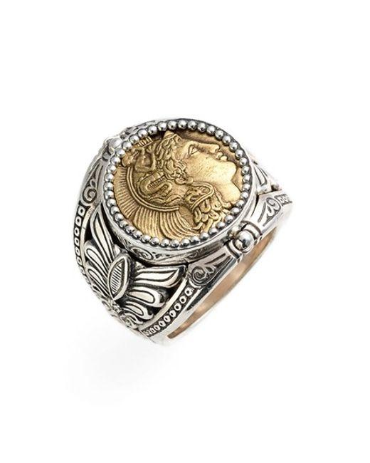 Konstantino | Metallic 'athena' Coin Ring | Lyst