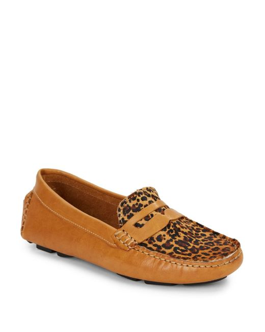 Saks Fifth Avenue | Brown Penny Calf Hair & Leather Moccasins | Lyst