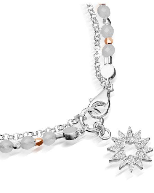 Astley Clarke | Metallic Silver Sun Friendship Bracelet | Lyst