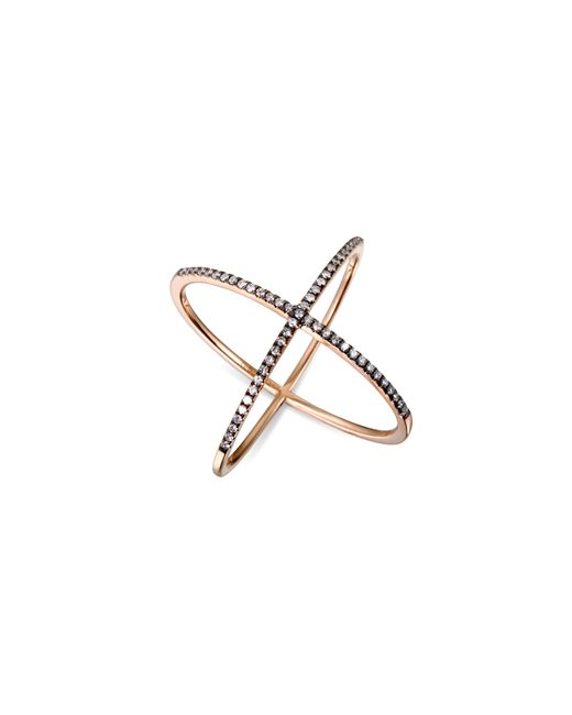 EF Collection | Metallic White Diamond X Ring | Lyst