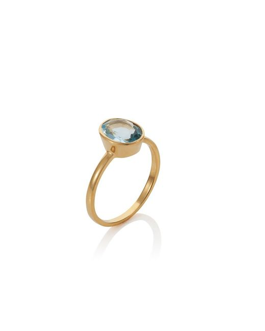 Caroline Creba | 18ct Gold Plated Sterling Silver 2.80ct Blue Topa | Lyst