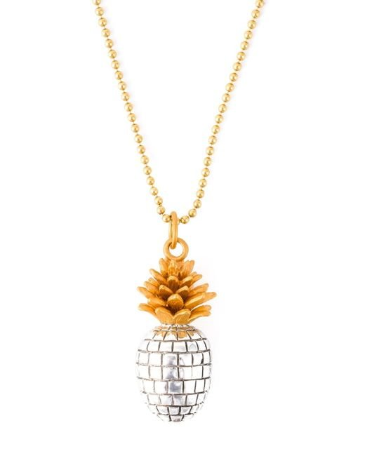 True Rocks   Metallic 'pineapple' Necklace   Lyst