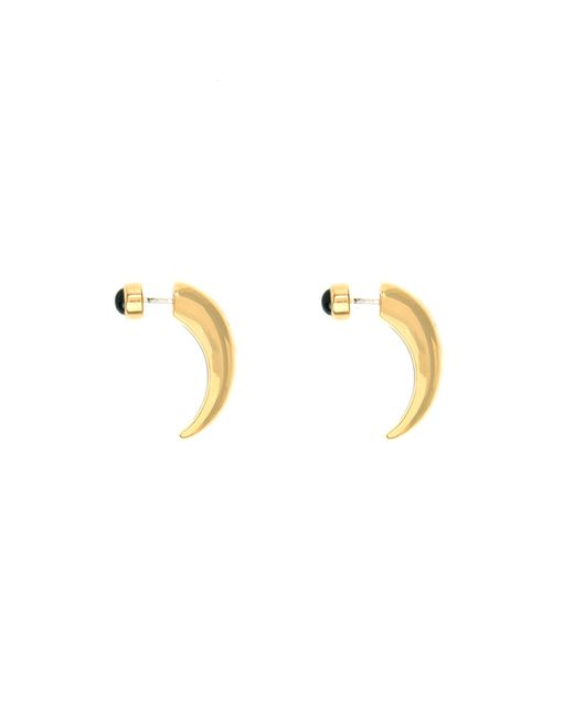 Pamela Love | Metallic Onyx Inlay Horn Earrings | Lyst