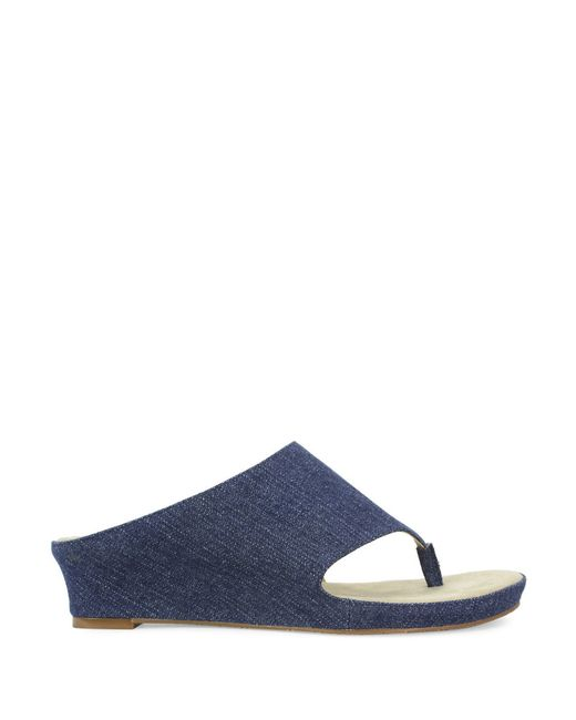 tahari wedge sandals in blue lyst