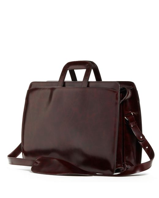 Brooks Brothers | Red Slide Handle Leather Briefcase for Men | Lyst