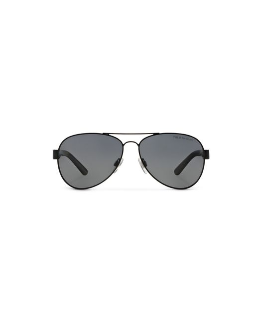 Polo Ralph Lauren | Black Contrast Aviator Sunglasses for Men | Lyst